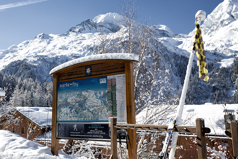 Pistes map and opening